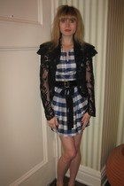 Anna Sui jacket - 31 phillip lim dress - Betsey Johnson belt - necklace - delman
