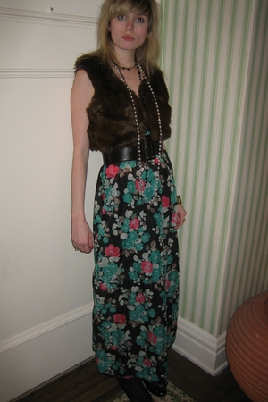 Vintage Diane von Furstenberg for RE-7 dress - vest - Theory belt - Vintage cost