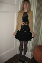 Vintage Ballantyne of Peebles sweater - Rebecca Taylor dress - vintage dior belt