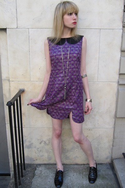 Anna Sui Dresses purple Anna Sui dress silver