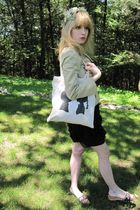 beige Valentino Red jacket - black Rebecca Taylor dress - beige belt - beige boy