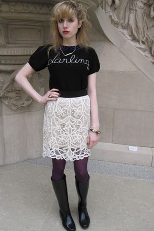 black Sonia by Sonia Rykiel top - white 31 phillip lim skirt - white necklace -