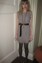 31 phillip lim dress - belt - Vintage costume earrings - Vintage costume necklac