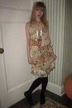 vera wang lavender label dress - Vintage costume necklace - Vintage costume neck