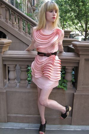 pink 31 phillip lim dress - purple belt - black Chanel shoes