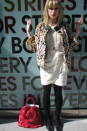 See by Chloe jacket - 31 phillip lim dress - Vintage costume necklace - costume