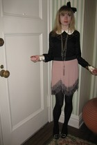 milly blouse - milly top - 31 phillip lim skirt - Vintage costume necklace - Vin