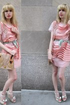 light pink zipper 31 Phillip Lim dress - aquamarine silk Vintage Liberty of Lond