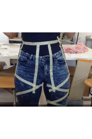 blue elastic jeans Vero Moda pants - gray elastic jeans Vero Moda pants