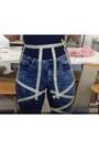 Blue-elastic-jeans-vero-moda-pants-hot-pink-flower-print-vero-moda-skirt