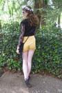 White-heart-giant-vintage-sunglasses-yellow-yellow-boho-fairytale-shorts