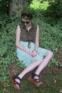 Brown-leopard-print-vintage-blouse-black-cat-eye-giant-vintage-sunglasses