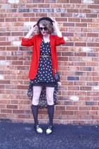 red classic vintage blazer - black star print Shopcalico dress