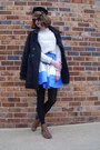 Blue-colorblocked-eshakti-dress-brown-leopard-print-target-boots