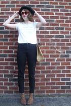 leopard print Target boots - ripped BDG jeans - vintage hat