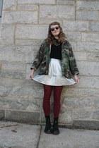 green camouflage vintage jacket - dark brown giant vintage sunglasses