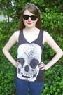 Black-skull-tank-punkalife-top-navy-skinny-charlotte-russe-jeans