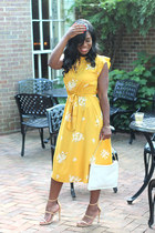 Loft dress - banana republic bag - Call it Spring sandals