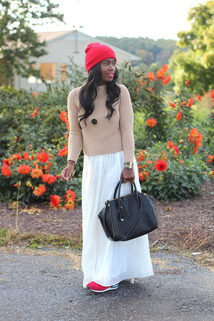 pins and needles skirt - Zara sweater - Rebecca Minkoff bag - nike sneakers