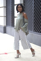 Tobi blouse - Zara pants - Schutz pumps