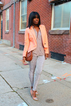 Line & Dot blazer - romeo & juliet leggings - H&M bag - Forever 21 pumps