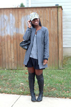 madewell hat - DKNY boots - Wells Grace coat - madewell shirt