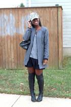 madewell hat - DKNY boots - Wells Grace coat - madewell shirt
