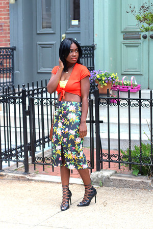 asos skirt - Old Navy top - Schutz sandals