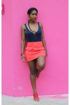 Forever 21 skirt - Nasty Gal bodysuit - Tibi heels