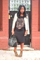Joie boots - The Girl That Loves jacket - Rebecca Minkoff bag - Zara t-shirt