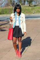 Zara jacket - Michael Kors bag - Zara t-shirt - Gap vest
