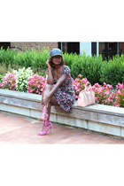 JustFab bag - Forever 21 dress - Quell Collections hat - JustFab sandals