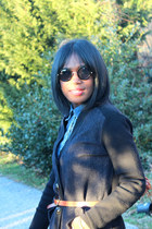 J Brand jeans - ann taylor shirt - asos sunglasses - rachel roy cardigan