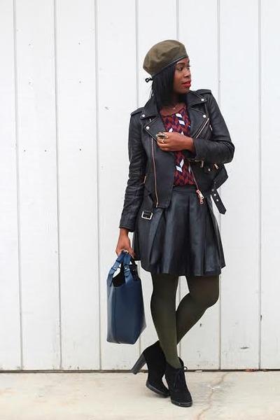 Steve Madden boots - Club Monaco jacket - Zara bag - IMadeline skirt