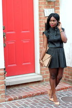 vintage dress - vintage bag - Zara pumps