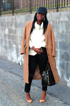 asos coat - madewell jeans - Sheinside sweater - Rebecca Minkoff bag