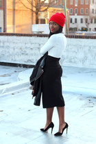 Zara dress - Club Monaco jacket - Mulberry bag - OASAP sunglasses