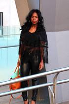 Zara bag - H&M pants - Alice  Olivia pumps - nicole miller blouse
