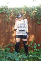 vintage from Ebay dress - Urban Outfitters hat - American Apparel skirt - Americ