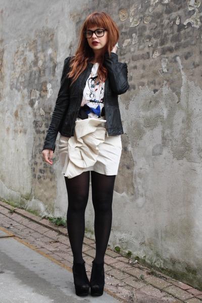 Lanvin for H&M skirt - Lanvin for H&M t-shirt - alpinestars jacket