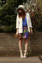 River Island blazer - H&M shoes - H&M garden collection skirt