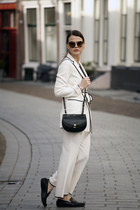 Chloe bag - Zara suit - Gucci loafers