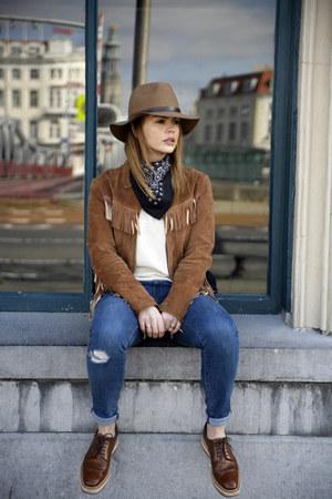 platform Prada shoes - jeans - bandana asos scarf