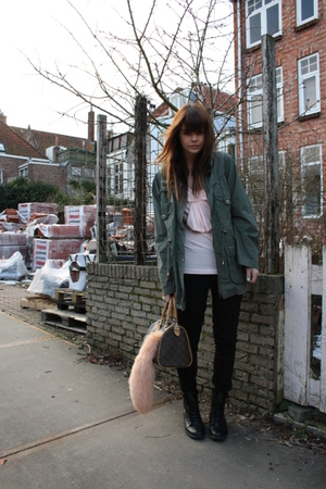 Primark jacket - LV purse - Primark top - acne pants