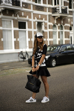 Ivyrevel top - Zara hat - Celine bag - Adidas Superstar sneakers