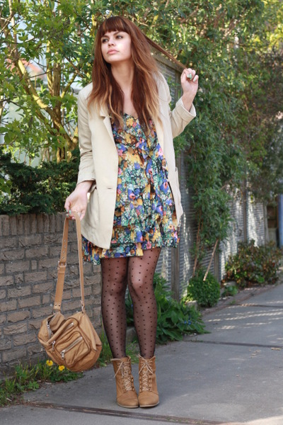 H&M garden collection dress - Zara shoes