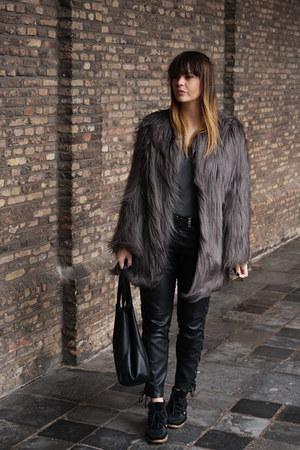 Unreal Fur coat - ISABEL MARANT POUR H&M pants - Isabel Marant sneakers