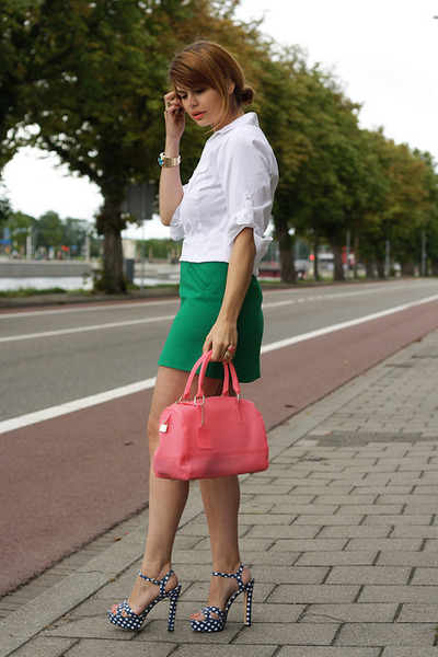 Zara skirt - VJ-style bag - Miu Miu sandals
