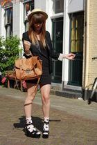 H&M blazer - vintage hat - GINA TRICOT socks - Sonia Rykiel H&M shoes