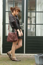H&M cardigan - H&M skirt - Jimmy Choo shoes